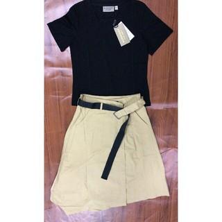 BURBERRY - 個性 超美品 スーツ Tシャツ+ スカート セット Burberry バーバリー