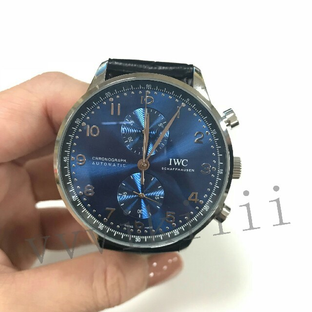 IWC - IWC ポルトギーゼ クロノグラフ  メンズ 腕時計 の通販 by ふ's shop|インターナショナルウォッチカンパニーならラクマ
