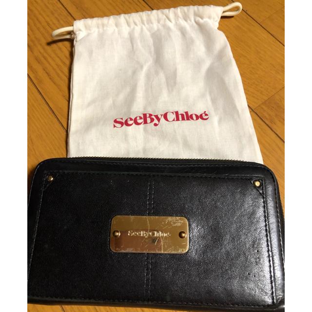 SEE BY CHLOE - See By Chloé 長財布(ブラック)保存袋付きの通販 by るりの's shop|シーバイクロエならラクマ