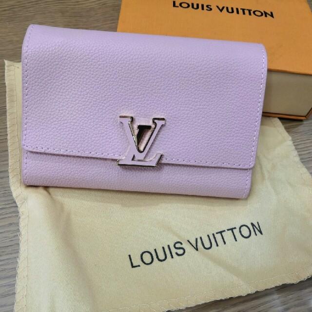 正規品ルイヴィトン 折り ピンク 財布 三つたたみ 可愛い の通販 by アズ🐼マ's shop|ラクマ
