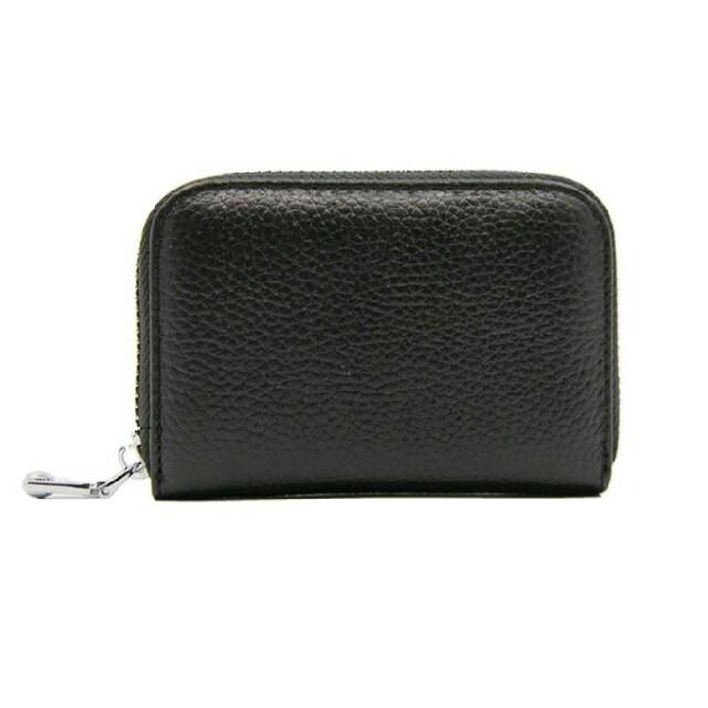 ミニウォレット カードケース レザー ブラックの通販 by rica.m's shop|ラクマ