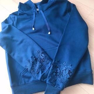 ミッシュマッシュ(MISCH MASCH)のミッシュマッシュ♡袖刺繍パーカー(パーカー)