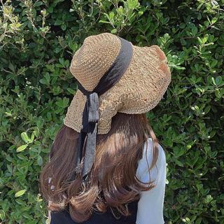 フラワー(flower)のflower 麦わら帽子(麦わら帽子/ストローハット)
