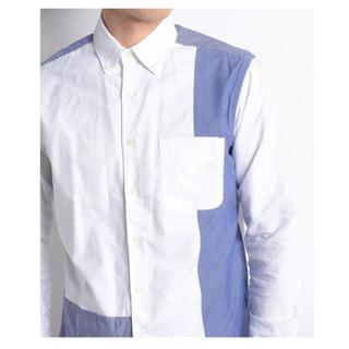 イッカ(ikka)のikka メンズ ブロック切り替えシャツ(Tシャツ/カットソー(半袖/袖なし))