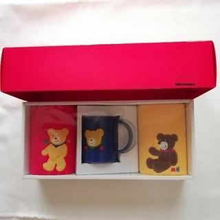 ミキハウス(mikihouse)のミキハウス・タオルとカップのセット(タオル/バス用品)