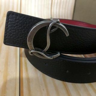 クリスチャンルブタン(Christian Louboutin)のクリスチャンルブタン バックル付き レザーベルト 90サイズ(ベルト)