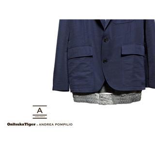 オニツカタイガー(Onitsuka Tiger)のOnitsuka Tiger ANDREA POMPILIO リブ ブレザー(テーラードジャケット)