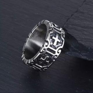 ヴィンテージパンククロスリング アクセサリー(リング(指輪))
