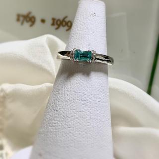 リング 指輪 トルマリン ダイヤモンド K18(リング(指輪))