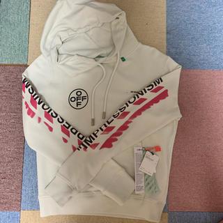 オフホワイト(OFF-WHITE)のoff-white 19SS パーカー オフホワイト ピンク XS(パーカー)