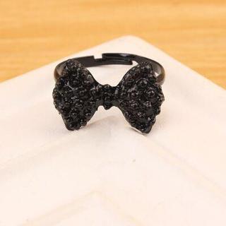 ブラックリボンモチーフリング(リング(指輪))