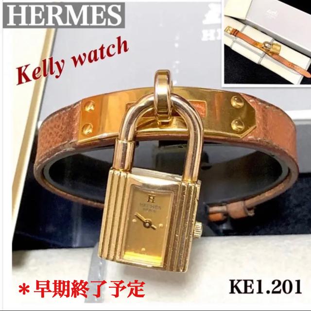Hermes - HERMES/エルメス ケリーウォッチカデナKE1.021ゴールド文字盤の通販 by '♡ayaka.・:*s shop |エルメスならラクマ
