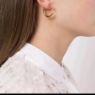 ハイク(HYKE)のマリアブラック  片耳 ゴールド silver925 (ピアス)