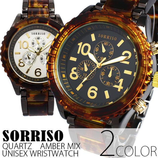 エルメス セリーヌ バッグ / 正規品SORRISOソリッソ  べっ甲カラーのフェイクダイヤル時計 メンズ腕時計の通販 by ちゅなSHOP|ラクマ