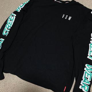 ステューシー(STUSSY)のvision street wear ロンt 袖プリ オーバーサイズ(Tシャツ/カットソー(七分/長袖))