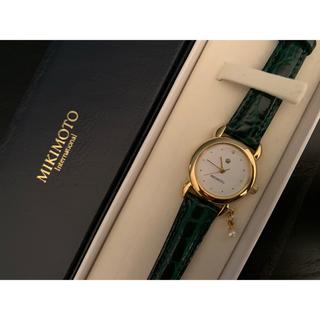 ミキモト(MIKIMOTO)の【美品】ミキモト Mikimoto腕時計 正規品(腕時計)