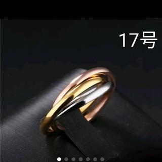 《新品》値下げ❗️海外 17号 3連  (細) リング(リング(指輪))