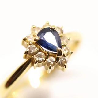 サファイア ダイヤ 18金リング(リング(指輪))