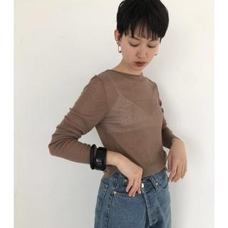 トゥデイフル(TODAYFUL)のTODAYFUL Sheer Long T-Shirts モカ(Tシャツ/カットソー(七分/長袖))
