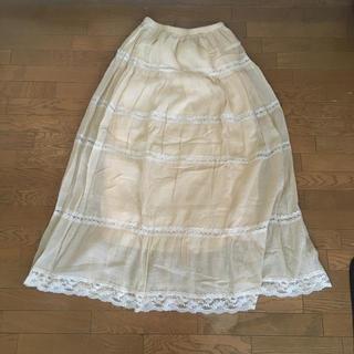 アナップ(ANAP)のロングスカート 白い(ロングスカート)