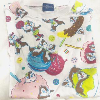 チップアンドデール(チップ&デール)の夏祭り チップとデール Tシャツ(Tシャツ(半袖/袖なし))