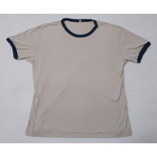 ユニクロ(UNIQLO)のUNIQLO(ユニクロ)★Tシャツ ベージュ★XLサイズ 男性用 半袖Tシャツ(Tシャツ/カットソー(半袖/袖なし))