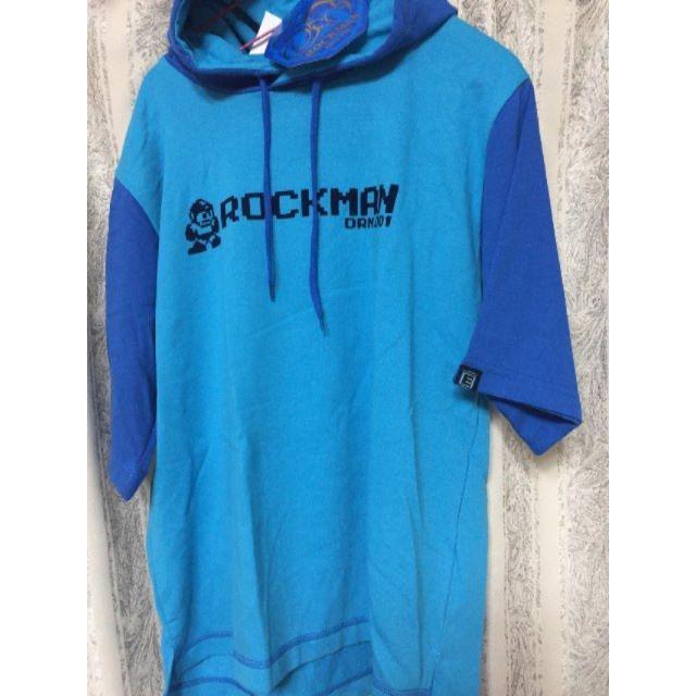 KONAMI(コナミ)の新品 M ロックマン パーカー Tシャツ 半袖 パーカーT エンタメ/ホビーのゲームソフト/ゲーム機本体(その他)の商品写真