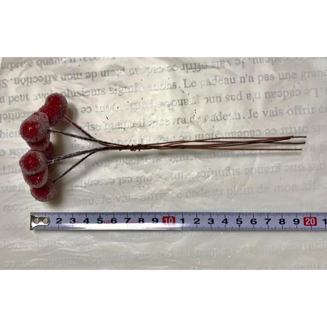 シュガーハートピック 画びょう型 (レッド)5本 ハンドメイドのフラワー/ガーデン(その他)の商品写真