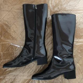 ギンザカネマツ(GINZA Kanematsu)の銀座かねまつ レインブーツ ブラック 23.5cm(レインブーツ/長靴)