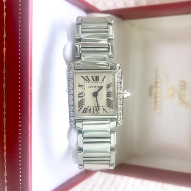 Cartier - 研磨済み✨カルティエ Cartier ピンクシェル タンクフランセーズSM腕時計の通販 by Balocco's shop|カルティエならラクマ