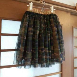 ブリーズ(BREEZE)のBREEZE 迷彩チュールスカート 120cm(スカート)