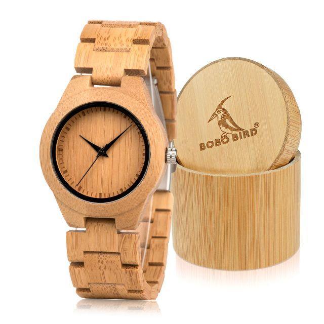 BOBO BIRD D19 メンズ竹木製腕時字スケールクォーツ腕時計軽量カジュアの通販 by aaa123's shop|ラクマ