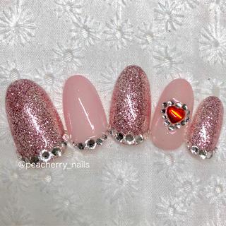 ネイルチップ 量産型 キラキラ ガーリー ピンク ゆめかわいい ハート