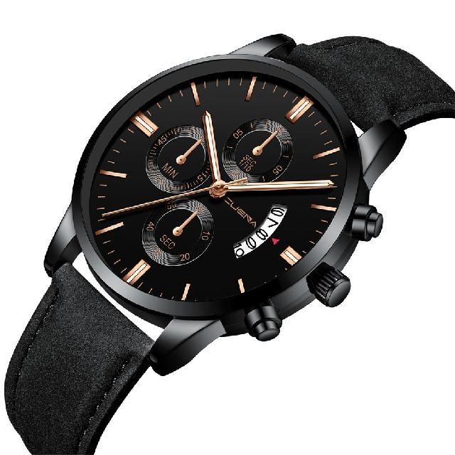 chanel 時計 買取 価格 、 【新品・送料込み】 CUENA メンズ クオーツ腕時計 ブラック ゴールドの通販 by 千早's shop|ラクマ
