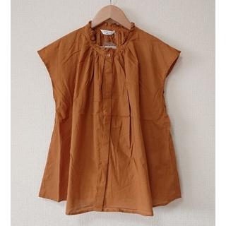 サマンサモスモス(SM2)の[新品] SM2blue 衿フリルブラウス(シャツ/ブラウス(半袖/袖なし))