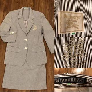 バーバリー(BURBERRY)のBURBERRY バーバリー ストライプ スカートスーツ サイズ9(スーツ)