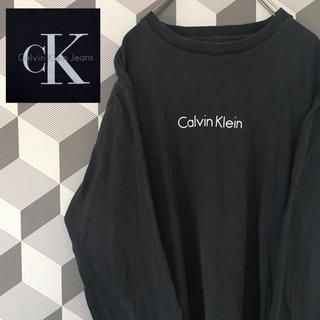 カルバンクライン(Calvin Klein)の【カルバンクライン 】ロゴプリント ビッグシルエット L/Sシャツ ロンT(Tシャツ/カットソー(七分/長袖))