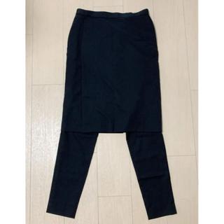 ハイク(HYKE)の【HYKE】レイヤードパンツスカート(ひざ丈スカート)
