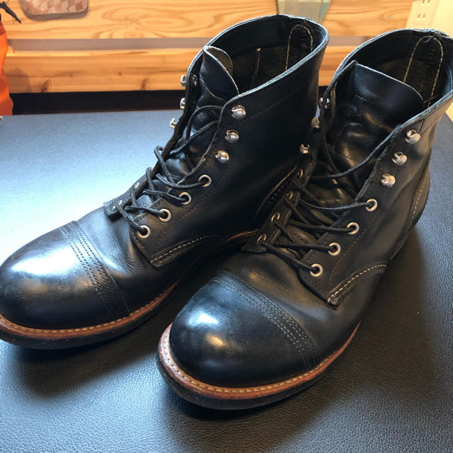 REDWING(レッドウィング)のレッドウィング アイアンレンジ 美品 箱無し メンズの靴/シューズ(ブーツ)の商品写真