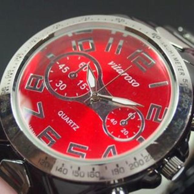 オメガ 時計 つくば 、 メンズ腕時計 メタルウォッチクロノデザインレッドVT ws_001の通販 by まゆみ's shop|ラクマ