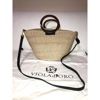 イエナ(IENA)の【新品】IENA購入VIOLA d'ORO ヴィオラドーロ かごショルダーバッグ(かごバッグ/ストローバッグ)