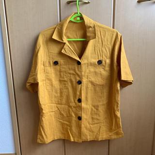 メルロー(merlot)のmerlot オープンカラービックポケットシャツ(シャツ/ブラウス(半袖/袖なし))