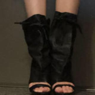 バレンシアガ(Balenciaga)のバレンシアガ  レザーブーツ 37 正規品(ブーツ)