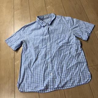 ジーユー(GU)の半袖シャツ ジーユー チェックシャツ(シャツ/ブラウス(半袖/袖なし))