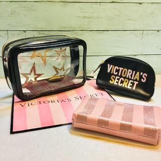 ヴィクトリアズシークレット(Victoria's Secret)のヴィクトリア シークレット トラベル バッグ 化粧 ポーチ ケース 星 スター(旅行用品)