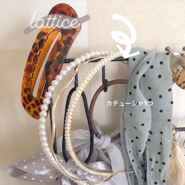 who's who Chico(フーズフーチコ)のlattice カチューシャ レディースのヘアアクセサリー(カチューシャ)の商品写真