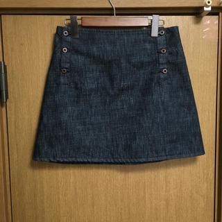 ミュウミュウ(miumiu)のmiumiu ミュウミュウ PRADA プラダ デニムスカート 膝丈スカート(ひざ丈スカート)