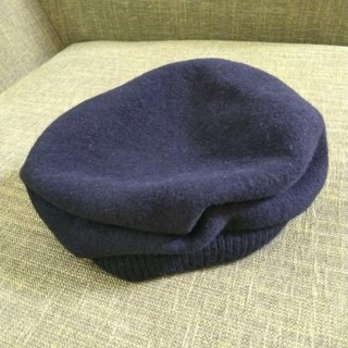 ネストローブ(nest Robe)のマチュアーハ タック ベレー帽 ブラック(ハンチング/ベレー帽)