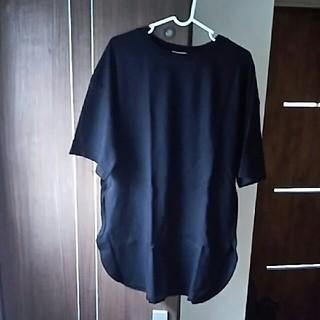 ジーユー(GU)のGU ヘビーウェイトオーバーサイズT 黒(Tシャツ(長袖/七分))