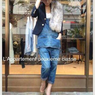 アパルトモンドゥーズィエムクラス(L'Appartement DEUXIEME CLASSE)のドゥーズィエムクラス  アパルトモン ネイビージャケット 36 美品(テーラードジャケット)